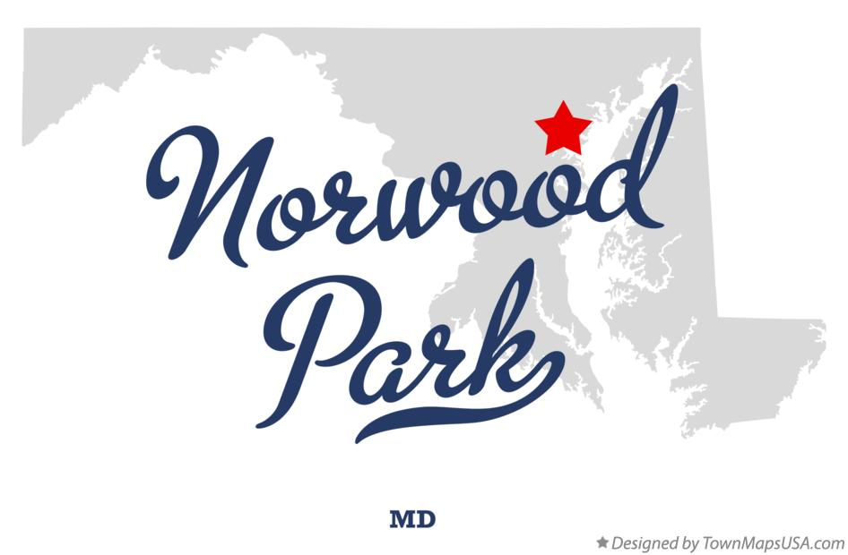 Map of Norwood Park Maryland MD