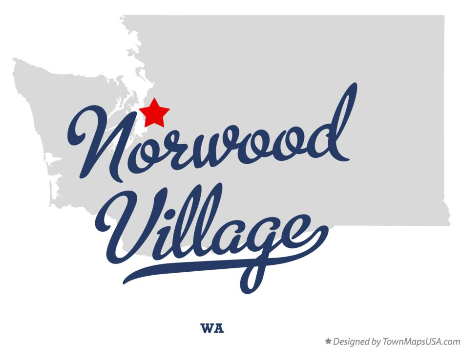Map of Norwood Village Washington WA