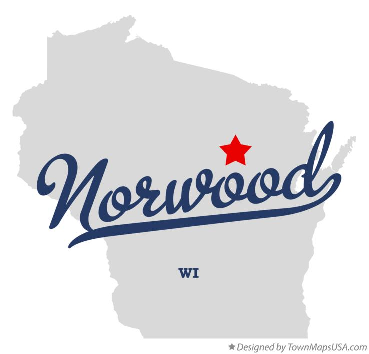 Map of Norwood Wisconsin WI