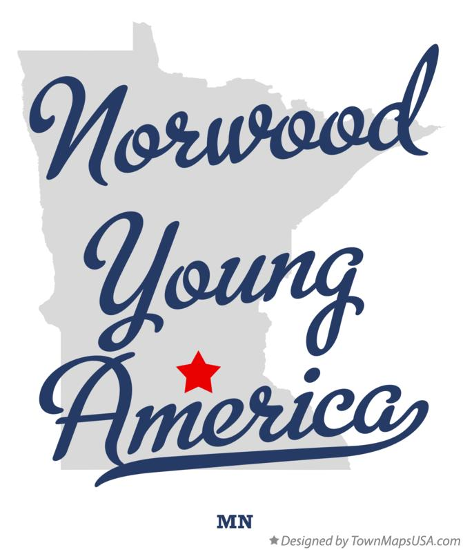 Map of Norwood Young America Minnesota MN