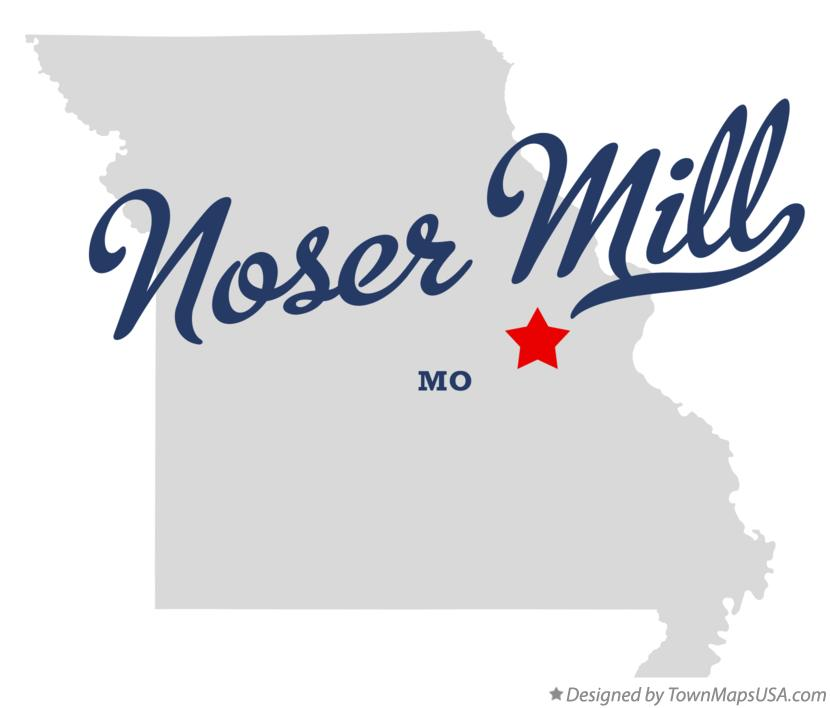 Map of Noser Mill Missouri MO