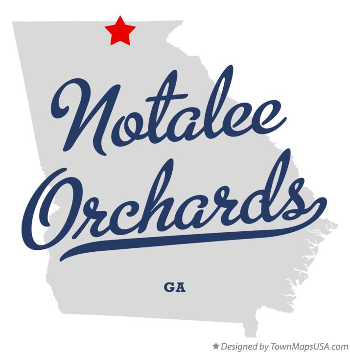 Map of Notalee Orchards Georgia GA