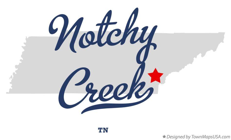 Map of Notchy Creek Tennessee TN