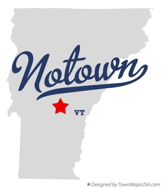 Map of Notown Vermont VT