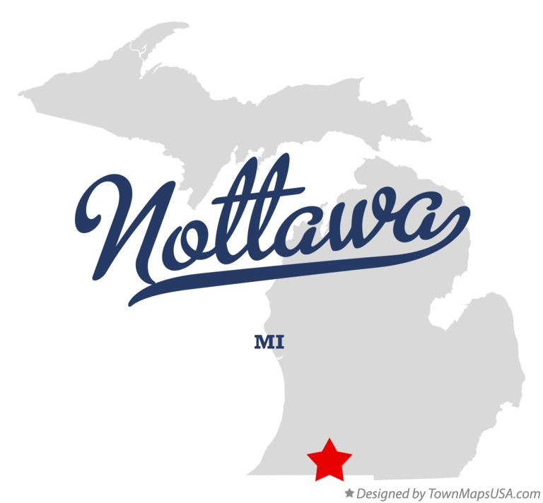 Map of Nottawa Michigan MI