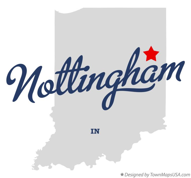 Map of Nottingham Indiana IN