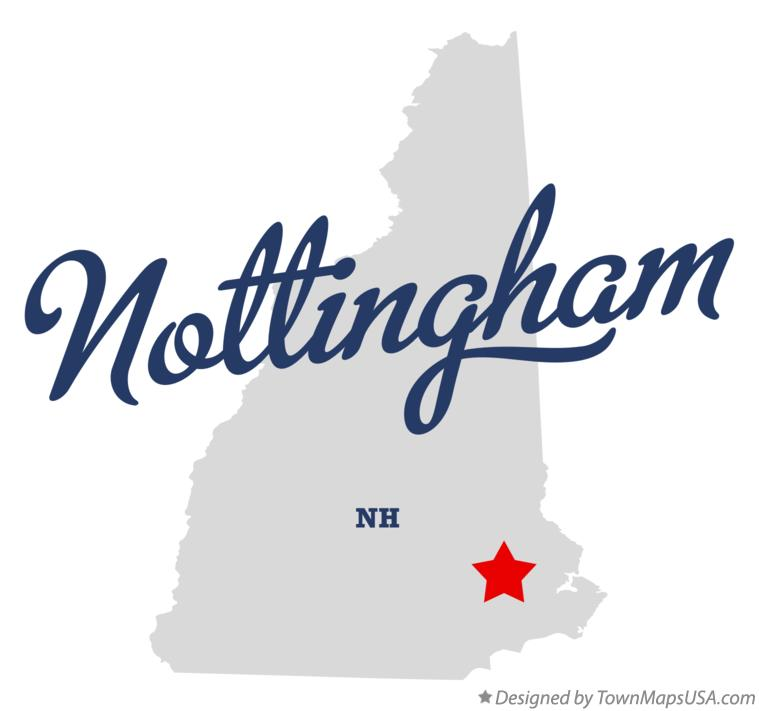 Map of Nottingham New Hampshire NH