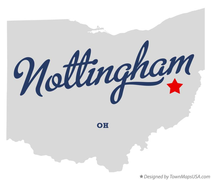 Map of Nottingham Ohio OH