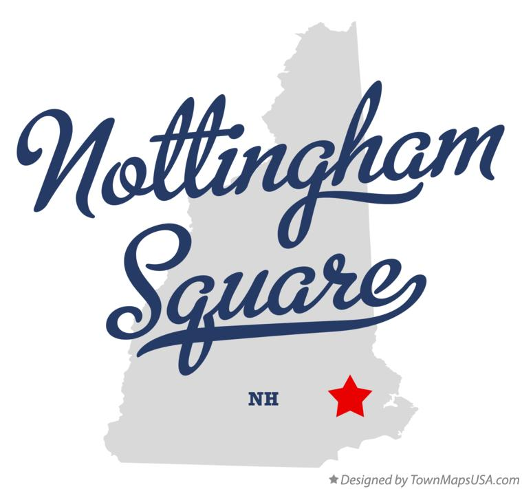 Map of Nottingham Square New Hampshire NH
