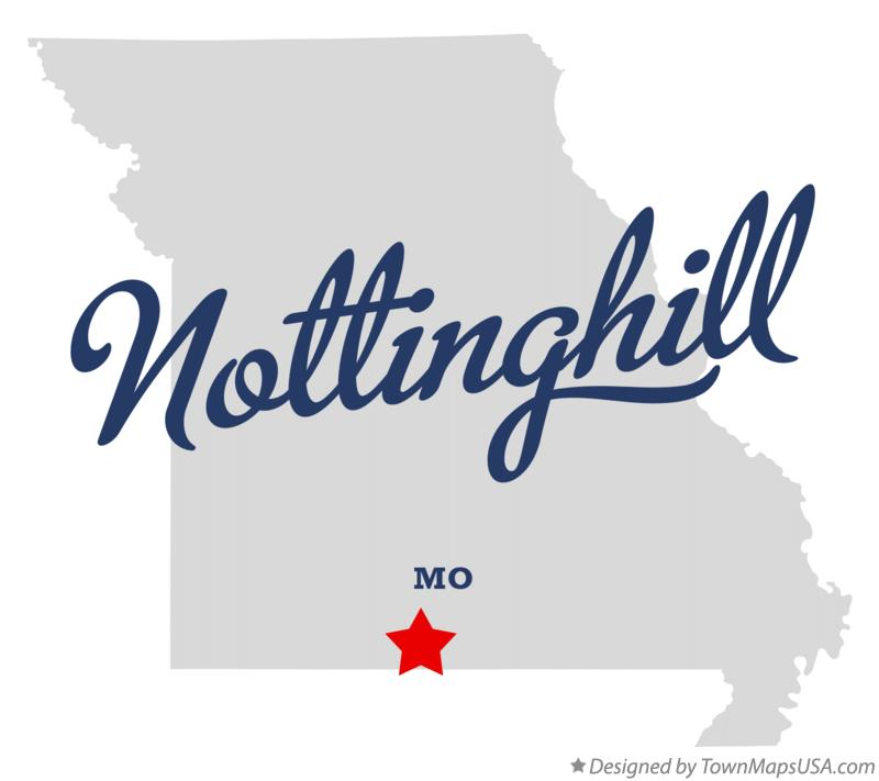 Map of Nottinghill Missouri MO