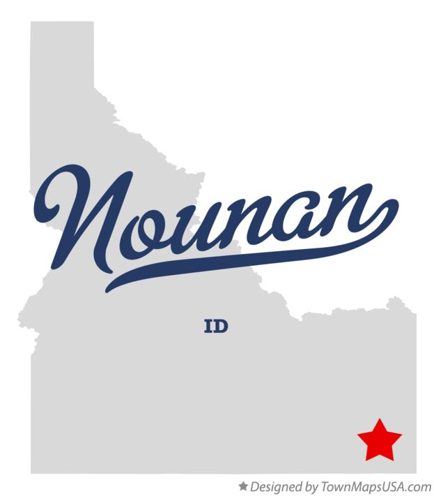 Map of Nounan Idaho ID