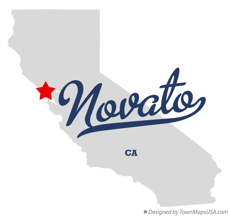 Map of Novato California CA
