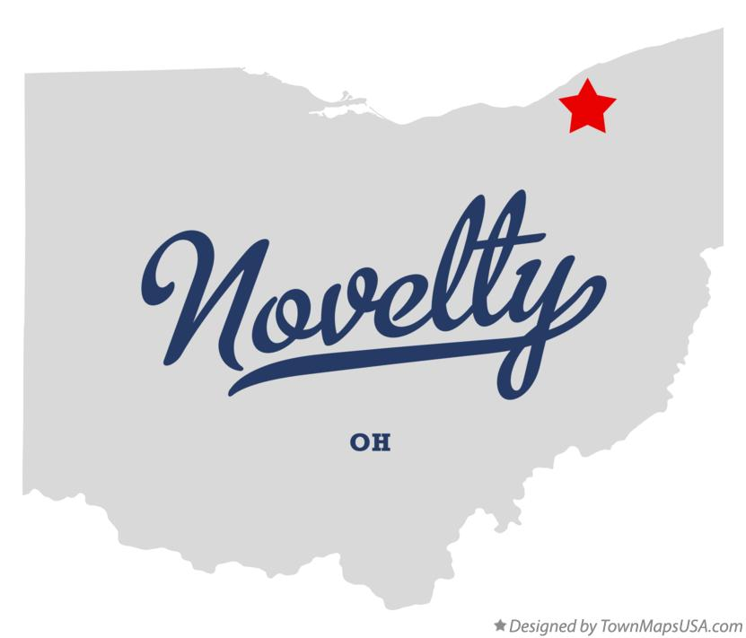 Map of Novelty Ohio OH