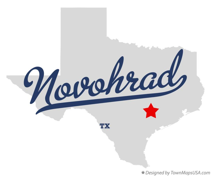 Map of Novohrad Texas TX