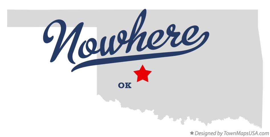 Map of Nowhere Oklahoma OK