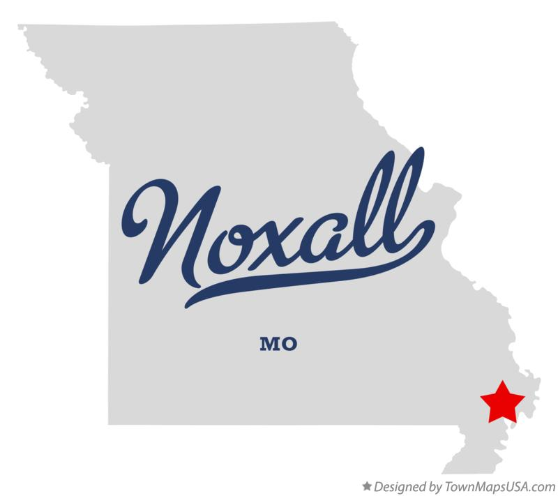 Map of Noxall Missouri MO