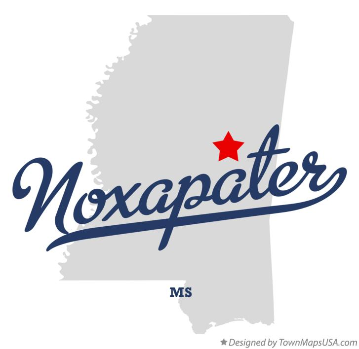 Map of Noxapater Mississippi MS