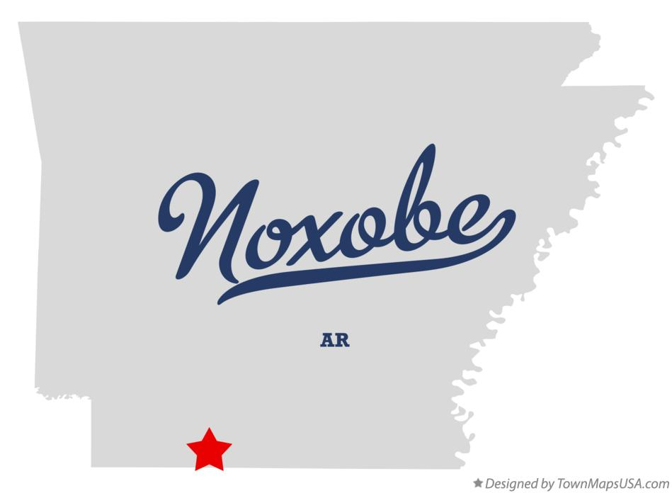 Map of Noxobe Arkansas AR