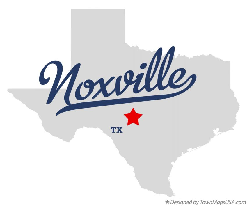Map of Noxville Texas TX