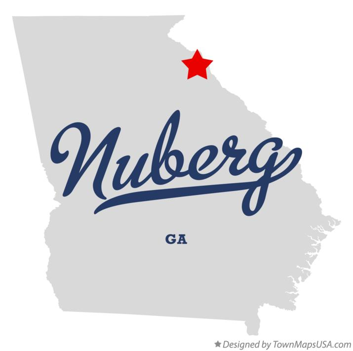 Map of Nuberg Georgia GA