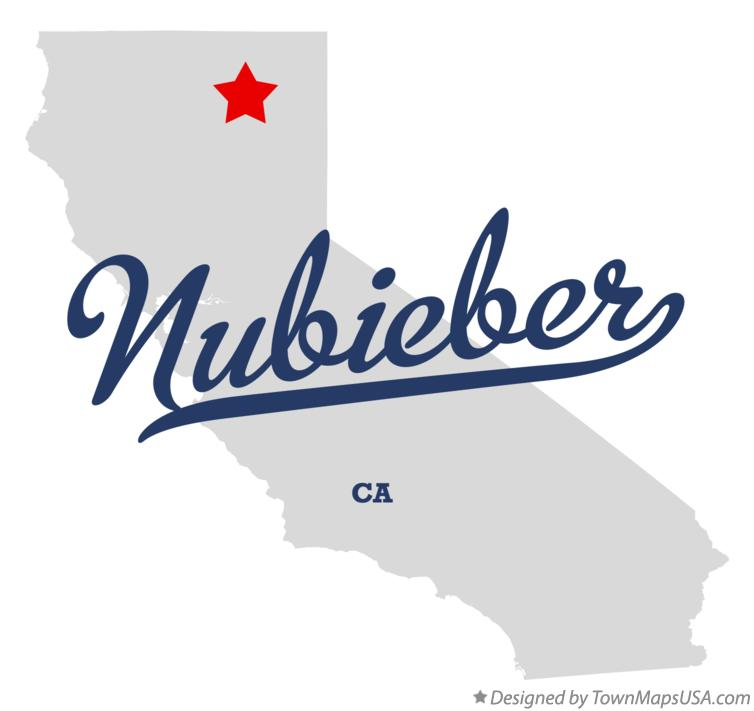 Map of Nubieber California CA