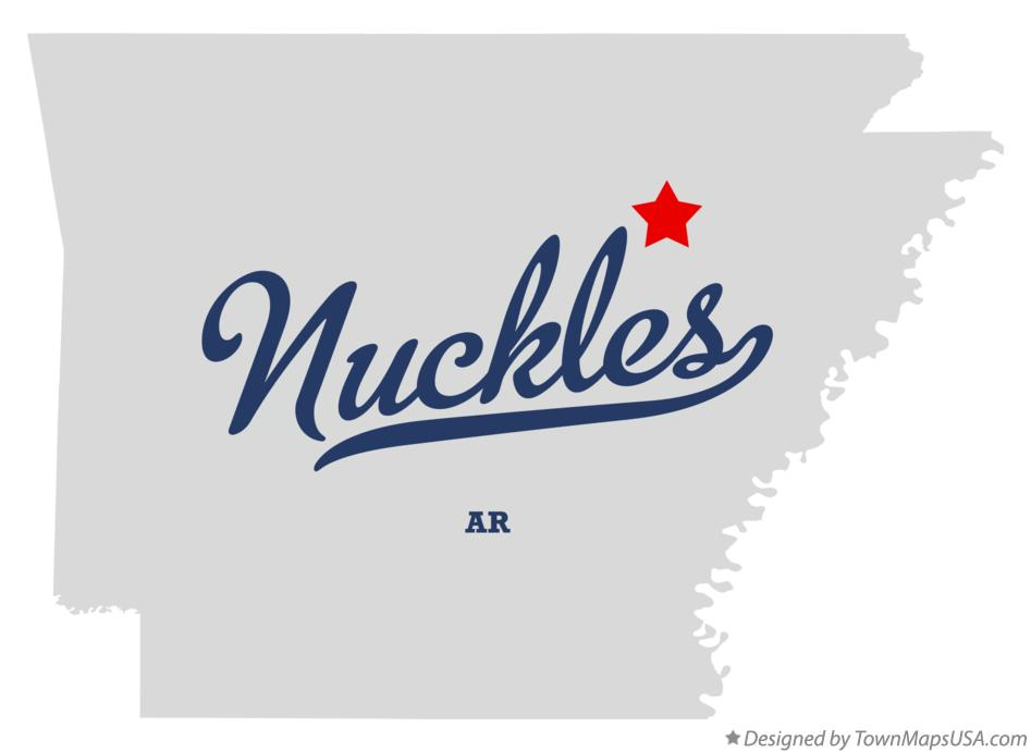 Map of Nuckles Arkansas AR