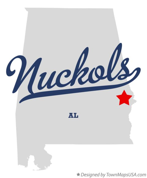 Map of Nuckols Alabama AL