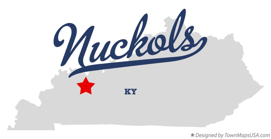 Map of Nuckols Kentucky KY