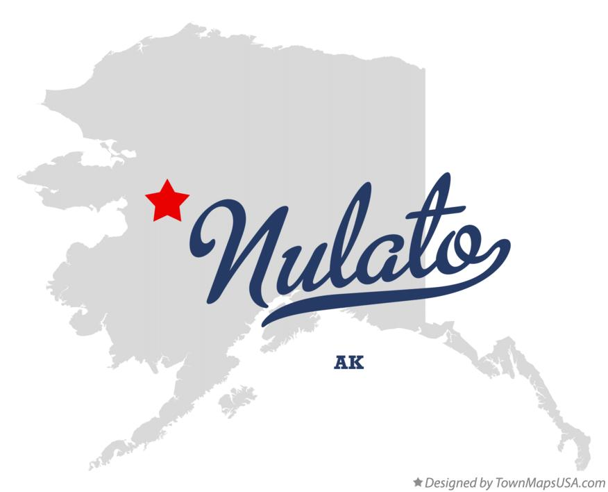 Map of Nulato Alaska AK