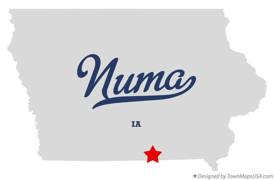 Map of Numa Iowa IA