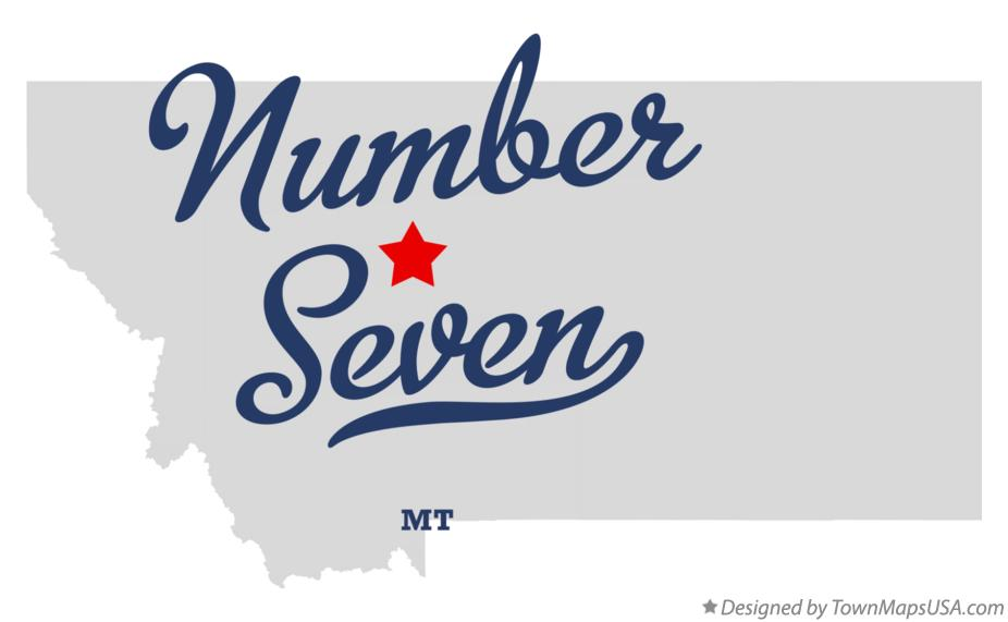Map of Number Seven Montana MT