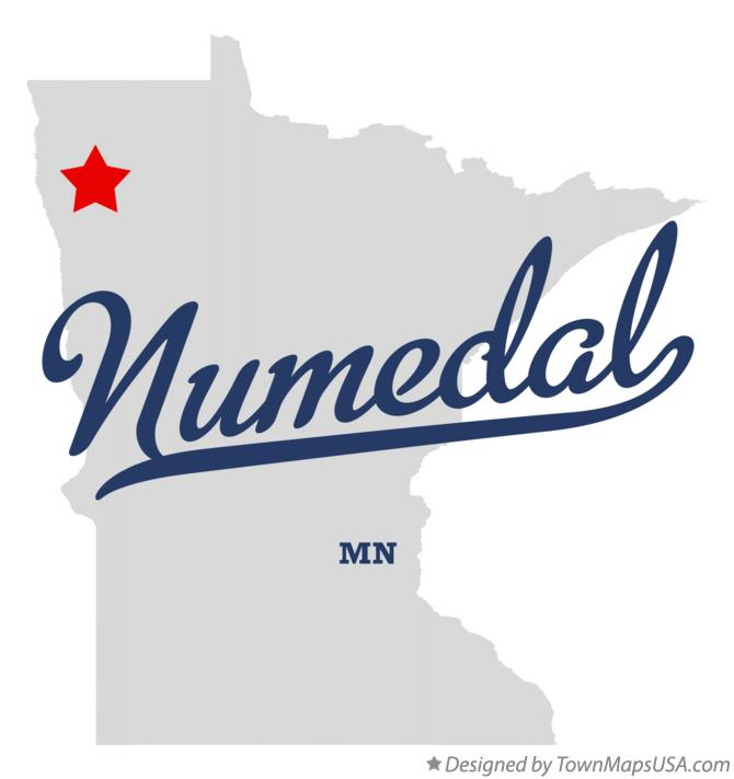 Map of Numedal Minnesota MN