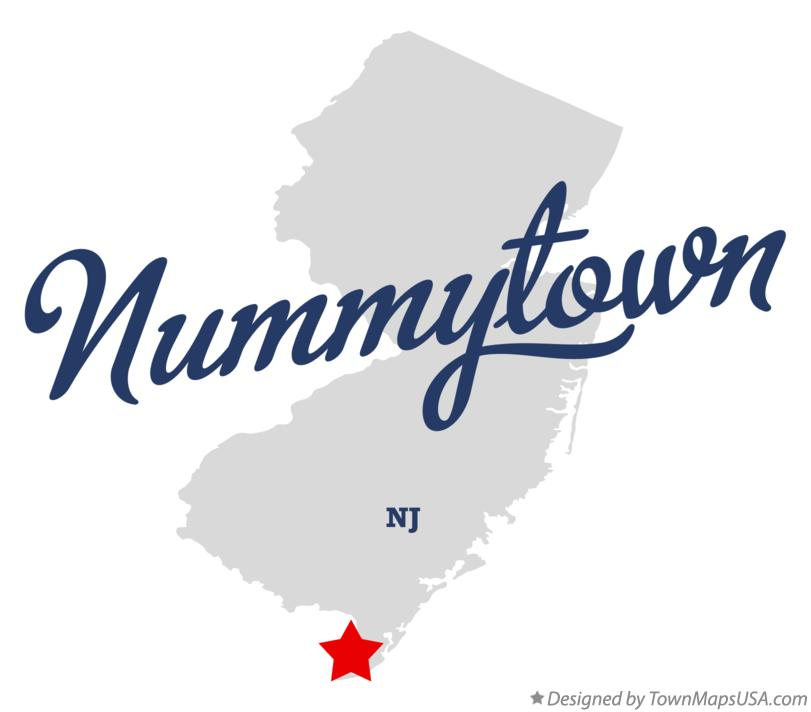 Map of Nummytown New Jersey NJ