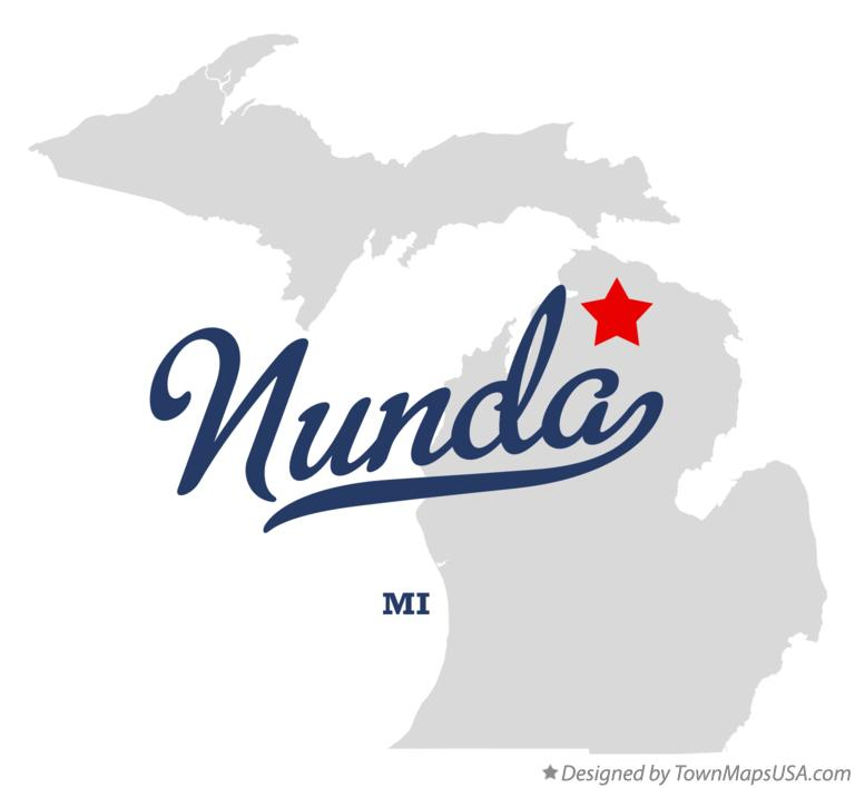 Map of Nunda Michigan MI