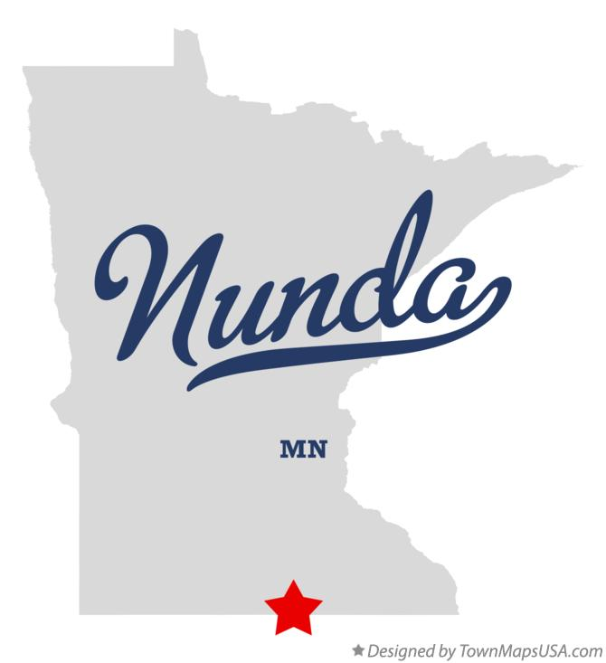 Map of Nunda Minnesota MN