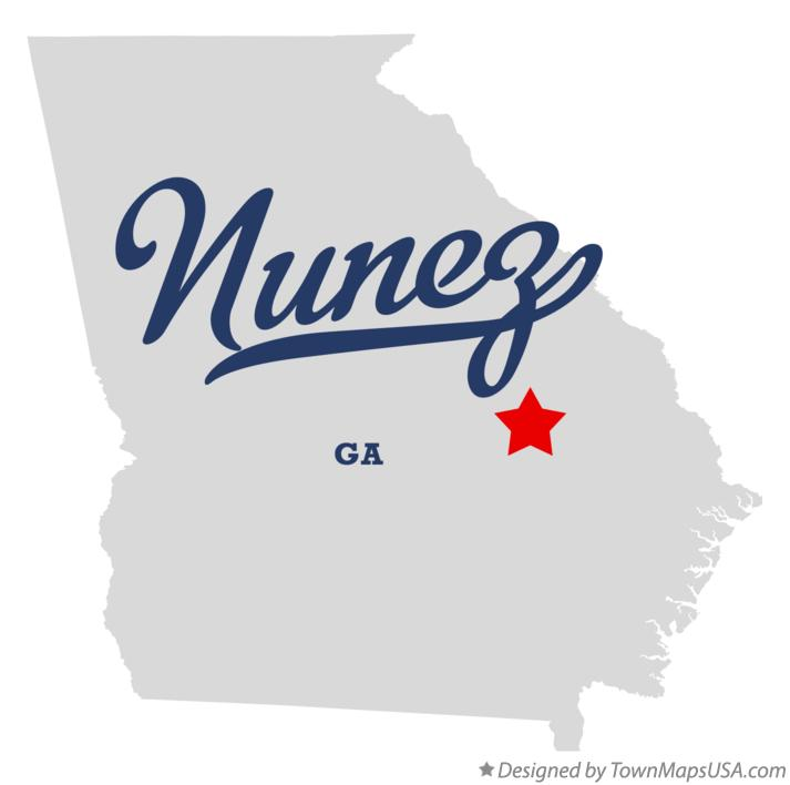 Map of Nunez Georgia GA