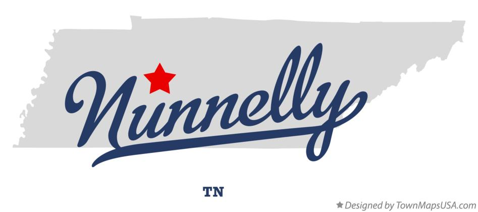 Map of Nunnelly Tennessee TN