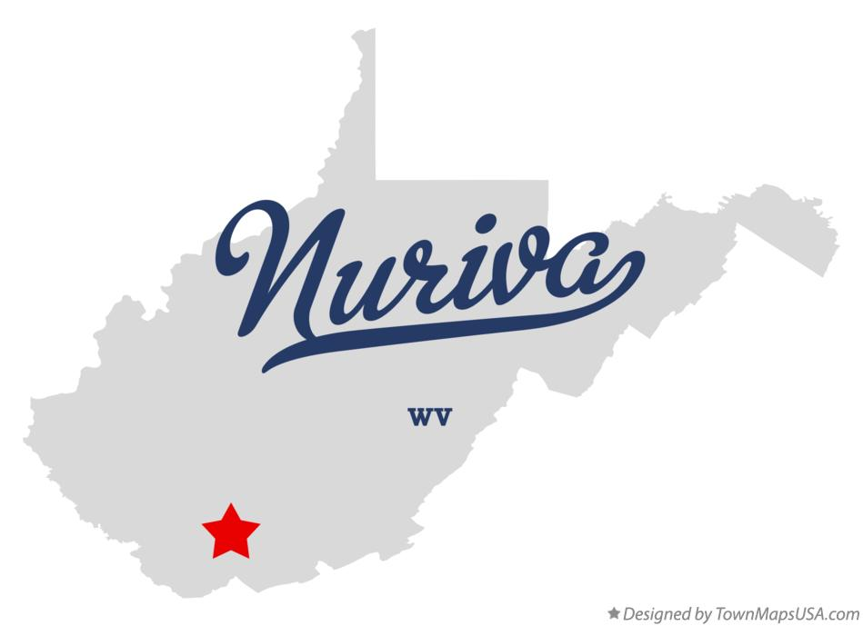Map of Nuriva West Virginia WV