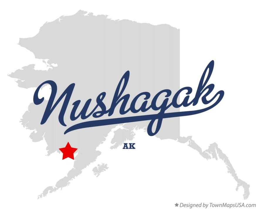 Map of Nushagak Alaska AK