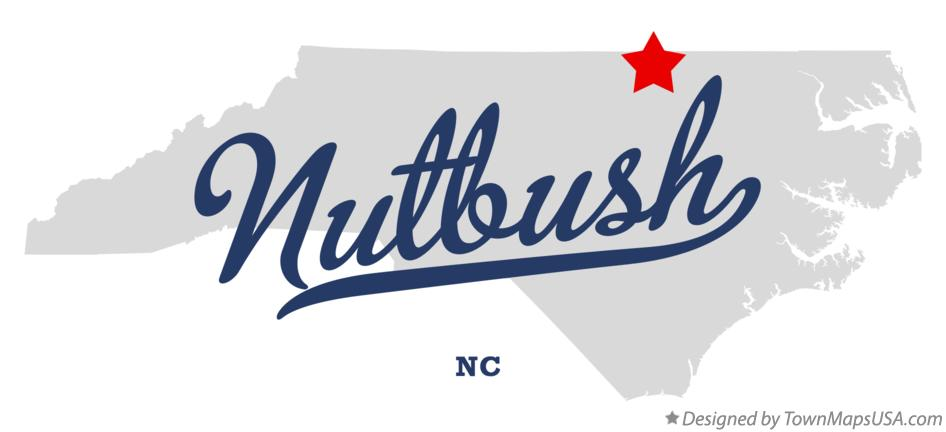 Map of Nutbush North Carolina NC