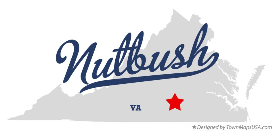Map of Nutbush Virginia VA