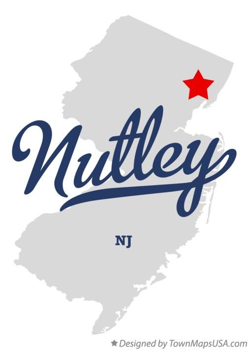 Map of Nutley New Jersey NJ