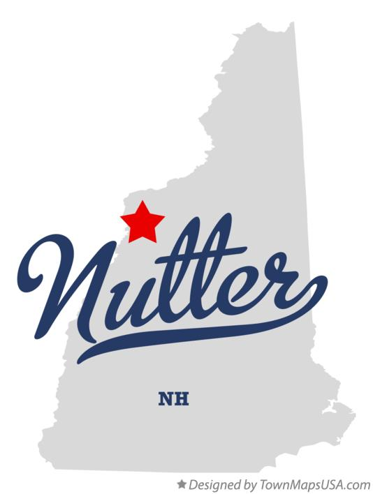 Map of Nutter New Hampshire NH