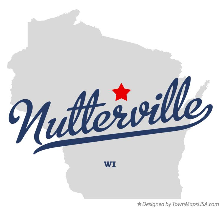 Map of Nutterville Wisconsin WI