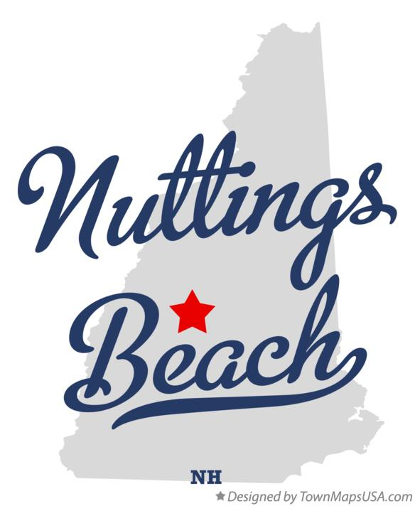 Map of Nuttings Beach New Hampshire NH