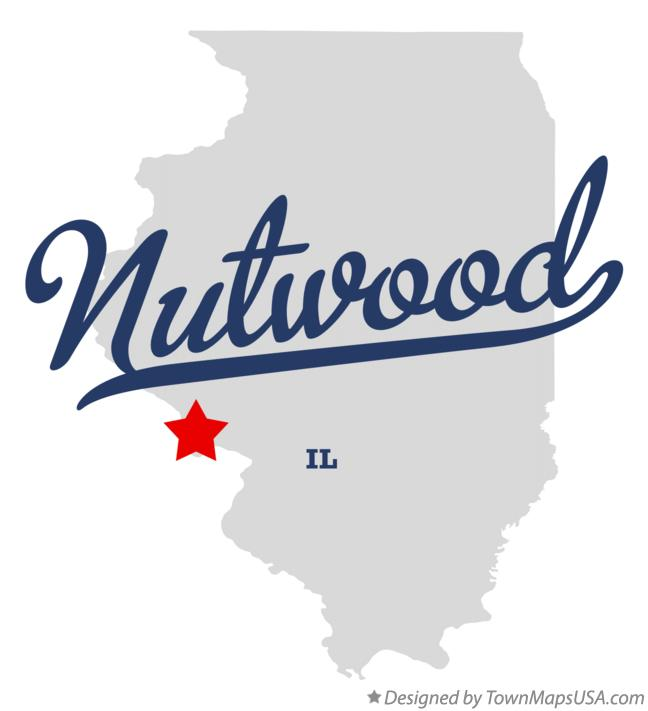 Map of Nutwood Illinois IL