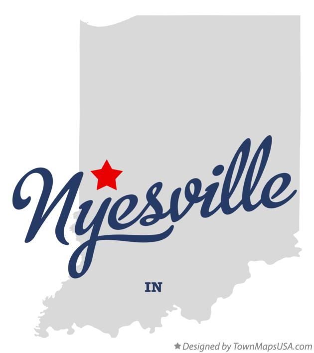 Map of Nyesville Indiana IN