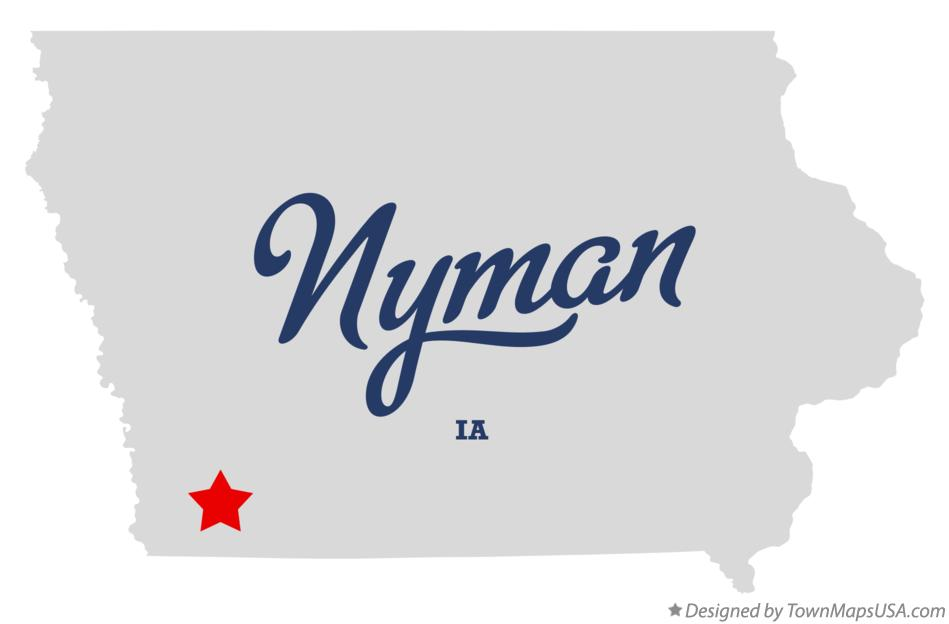 Map of Nyman Iowa IA
