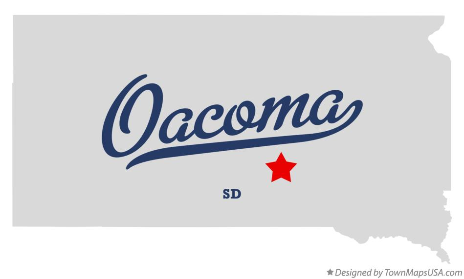 Map of Oacoma South Dakota SD