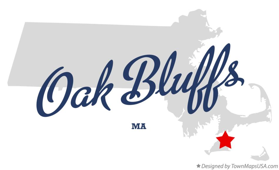 Map of Oak Bluffs Massachusetts MA
